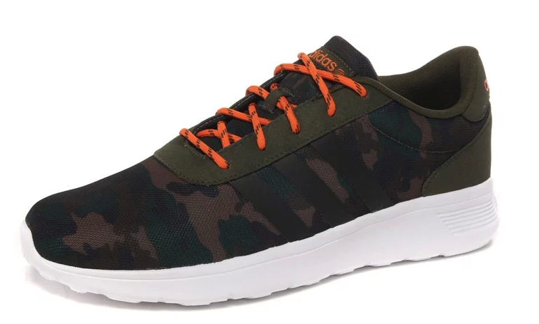 Men's Adidas NEO Lite Racer Shoes Camo/Green/Black/White F97865
