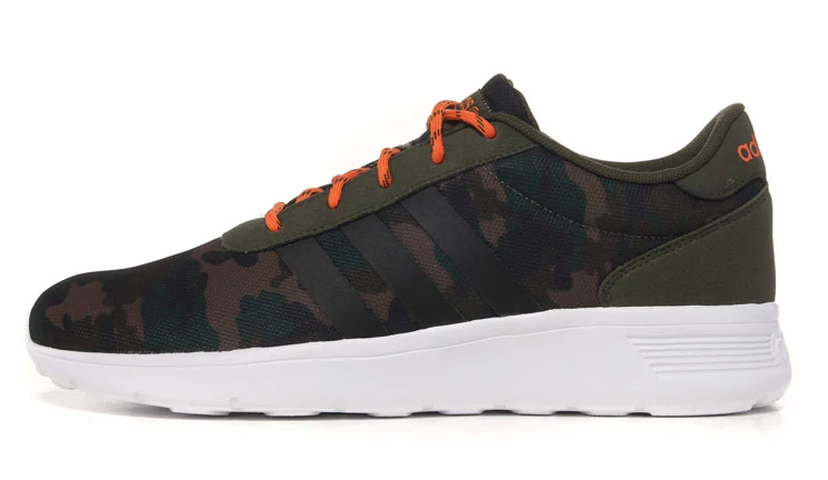 Men\'s Adidas NEO Lite Racer Shoes Camo/Green/Black/White F97865