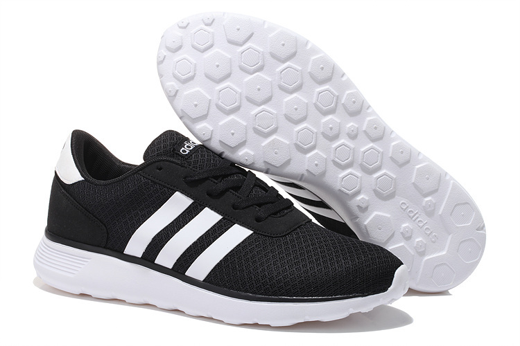 Men's/Women's Adidas NEO Lite Racer Shoes Core Black/Running White F97999