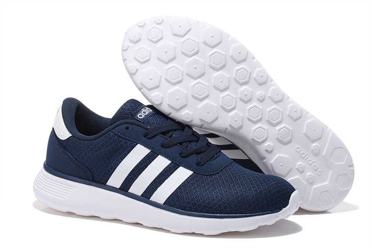 Men\'s/Women\'s Adidas NEO Lite Racer Shoes Navy/White