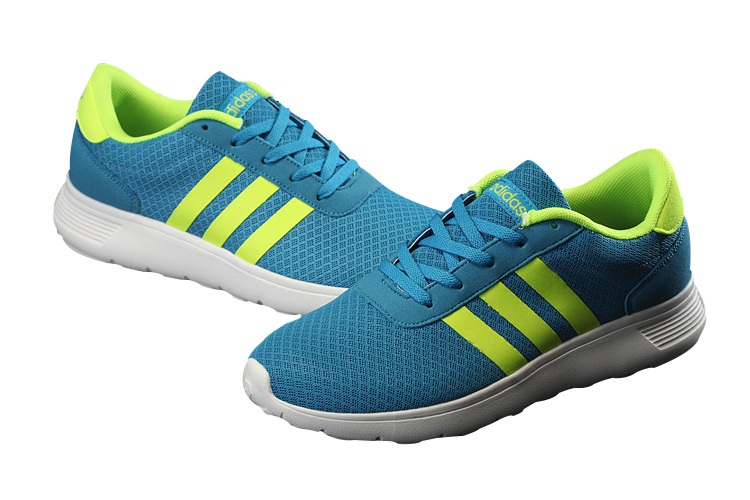 Men\'s/Women\'s Adidas NEO Lite Racer Shoes Jade/Apple Green F76321