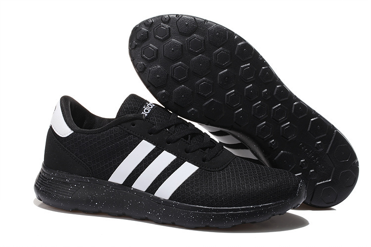 Men\'s/Women\'s Adidas NEO Lite Racer Shoes Black/White