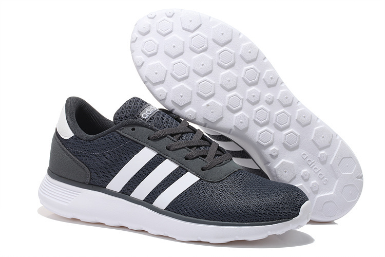 Men's/Women's Adidas NEO Lite Racer Shoes Dark Grey/White