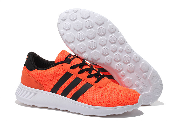 Men's/Women's Adidas NEO Lite Racer Shoes Reddish Orange/Core Black F76397
