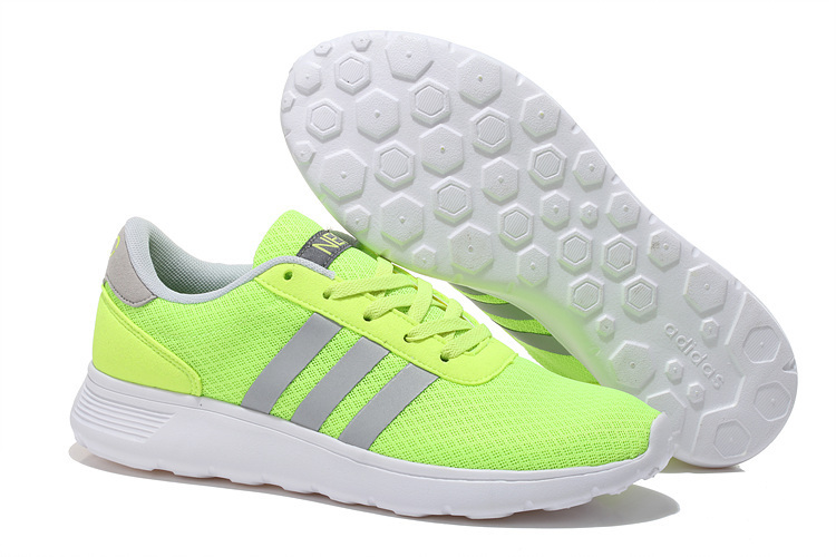 Men\'s/Women\'s Adidas NEO Lite Racer Shoes Apple Green/Silver F76396