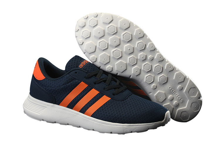 Men's/Women's Adidas NEO Lite Racer Shoes Navy Blue/Orange