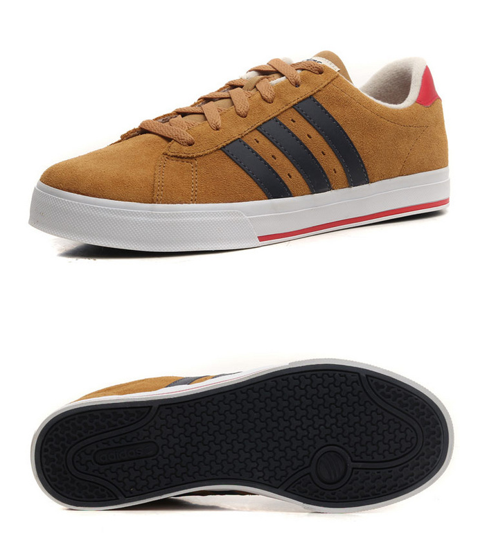 Men\'s/Women\'s Adidas NEO SE Daily Vulc Suede Shoes Tan F39077