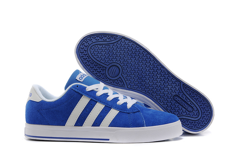 Men's/Women's Adidas NEO SE Daily Vulc Suede Shoes Bold Blue/Running White F39081