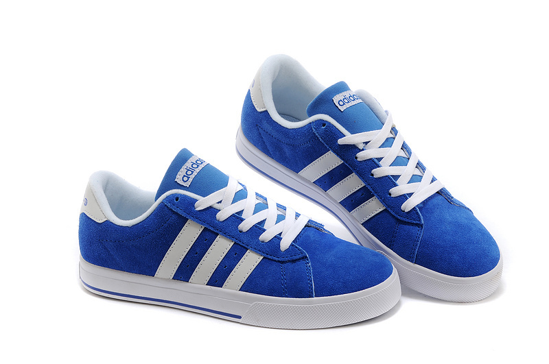 Men\'s/Women\'s Adidas NEO SE Daily Vulc Suede Shoes Bold Blue/Running White F39081