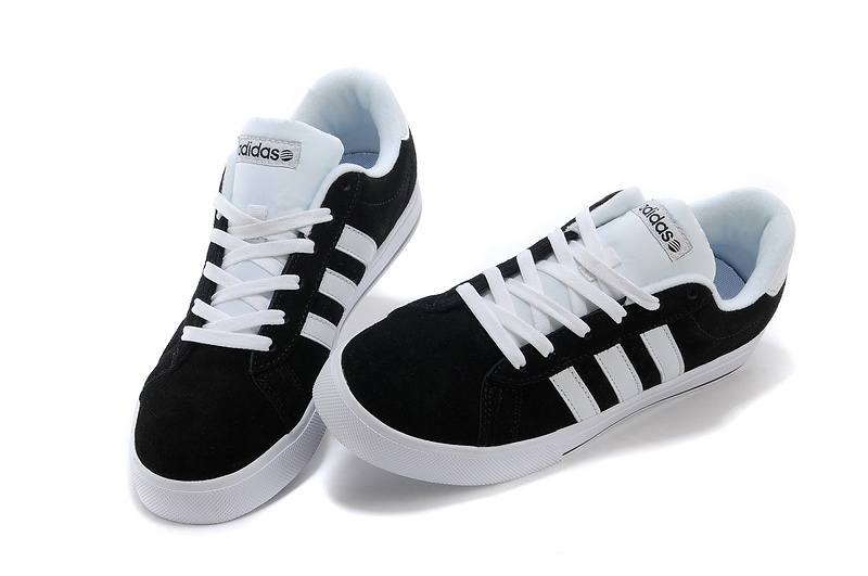 Men\'s/Women\'s Adidas NEO SE Daily Vulc Suede Shoes Core Black/Running White F39072