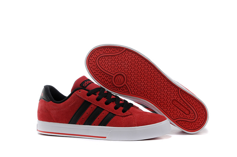 Men's/Women's Adidas NEO SE Daily Vulc Suede Shoes University Red/Core Black F39079
