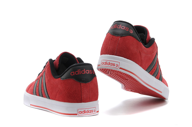 Men\'s/Women\'s Adidas NEO SE Daily Vulc Suede Shoes University Red/Core Black F39079