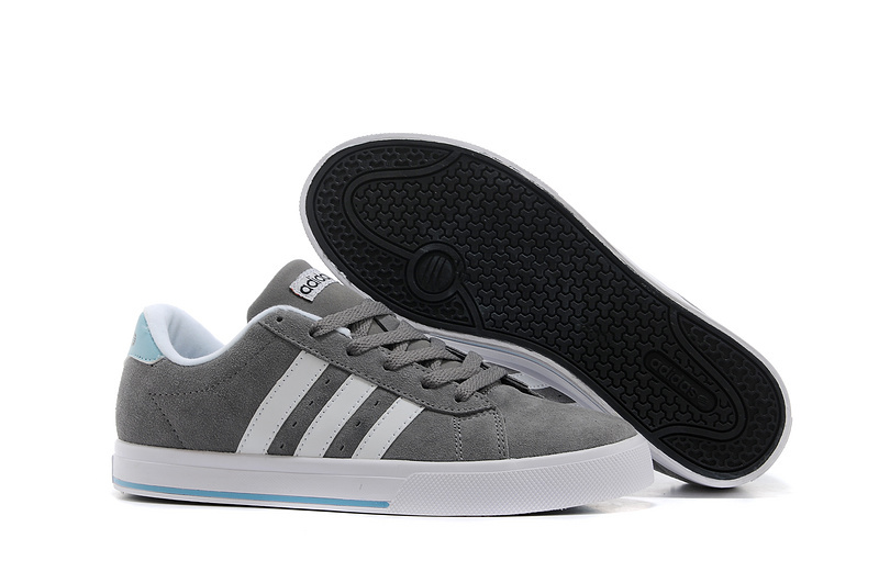 Men's/Women's Adidas NEO SE Daily Vulc Suede Shoes Tech Grey/Argentina Blue/Running White F39076