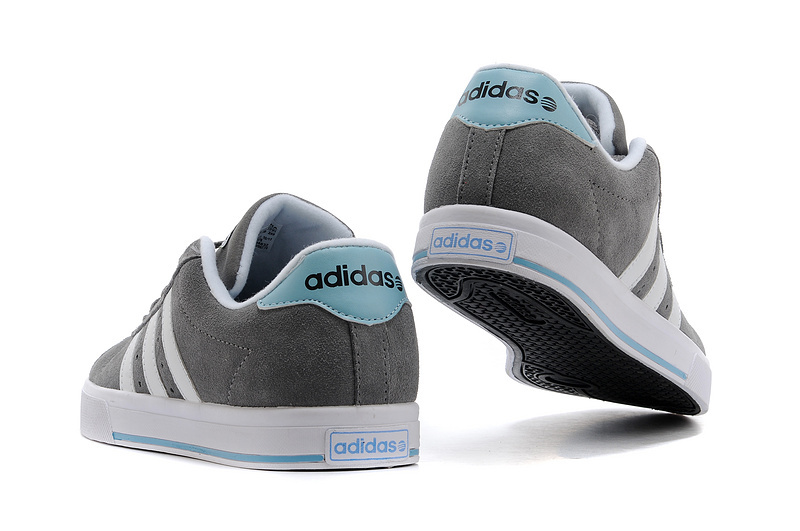 Men\'s/Women\'s Adidas NEO SE Daily Vulc Suede Shoes Tech Grey/Argentina Blue/Running White F39076
