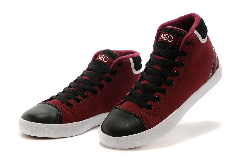 Men\'s/Women\'s Adidas NEO High Tops Shoes Burgundy/Core Black/White
