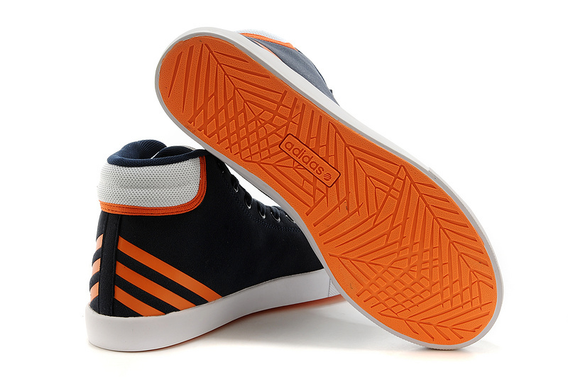 Men\'s/Women\'s Adidas NEO High Tops Shoes New Navy/Orange/White
