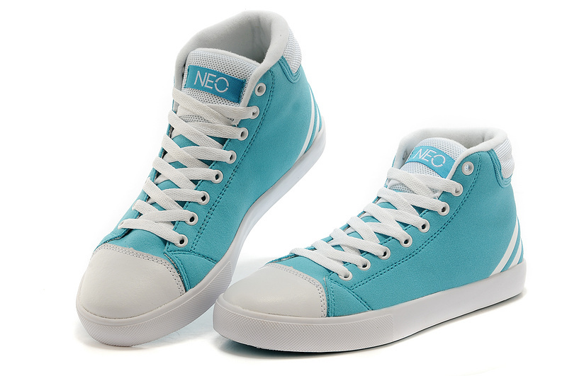 Men\'s/Women\'s Adidas NEO High Tops Shoes Jade/White
