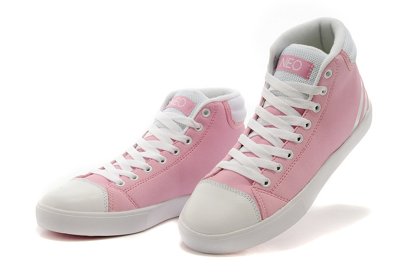 Women\'s Adidas NEO High Tops Shoes Pink/White