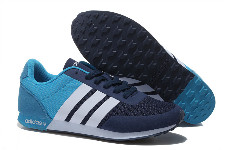 Men's/Women's Adidas NEO V Racer TM Apr Running Shoes Navy/Sky Blue/White