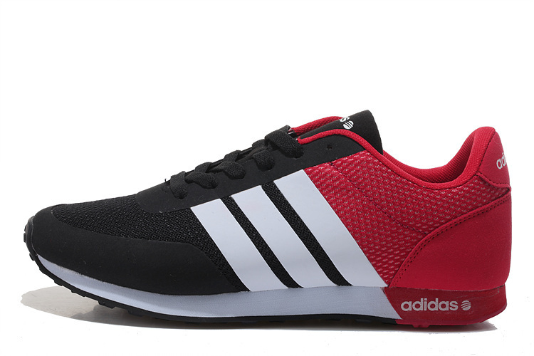 Men\'s/Women\'s Adidas NEO V Racer TM Apr Running Shoes Core Black/University Red/White