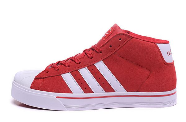 Men's Adidas Classic NEO High Tops Shoes Red White F98985
