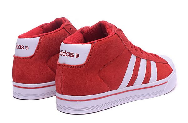 Men\'s Adidas Classic NEO High Tops Shoes Red White F98985