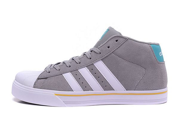 Men's Adidas Classic NEO High Tops Shoes Grey White F98984