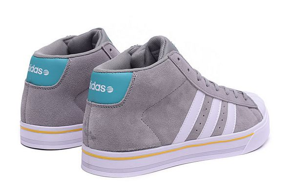 Men\'s Adidas Classic NEO High Tops Shoes Grey White F98984