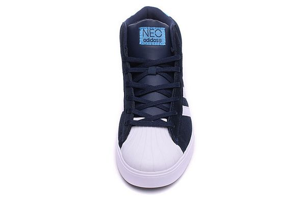 Men\'s Adidas Classic NEO High Tops Shoes Black White F98982