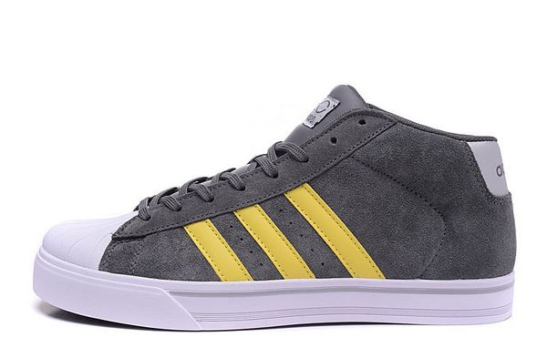 Men's Adidas Classic NEO High Tops Shoes Grey Yellow F98983