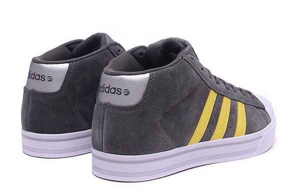 Men\'s Adidas Classic NEO High Tops Shoes Grey Yellow F98983