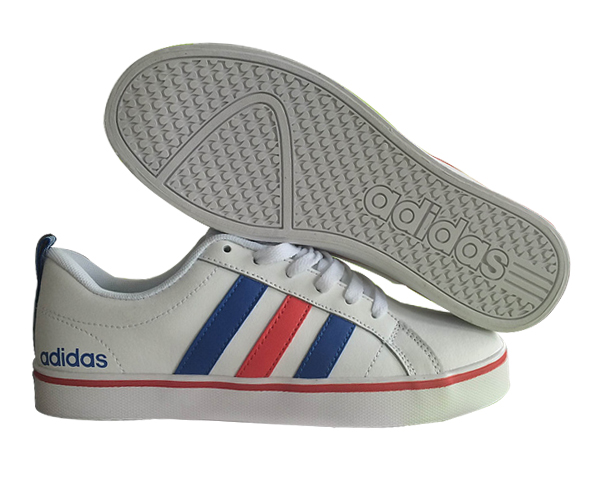 Men\'s/Women\'s Adidas Neo Pace VS Low Shoes White/Blue/Red