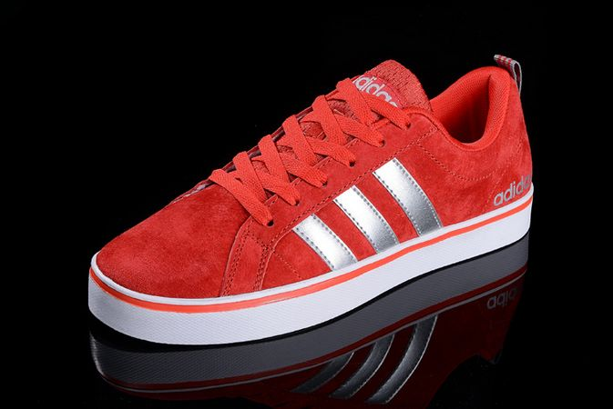 Men's/Women's Adidas Neo Pace VS Low Shoes Red/Silver