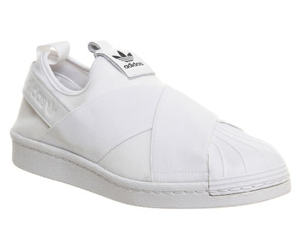 Men's/Women's Adidas Originals Superstar Slip On Trainer White