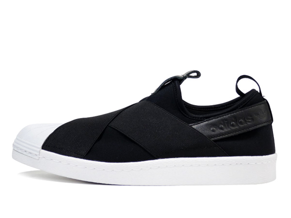 Men's/Women's Adidas Originals Superstar Slip On Trainer Black