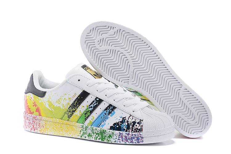 Men's/Women's Adidas Originals Superstar Pride Pack Shoes Running White Ftw/Core Black/Running White Ftw D70351