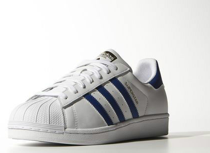 Men's/Women's Adidas Originals Superstar Foundation Shoes Running White Ftw/Blue/Running White B27141