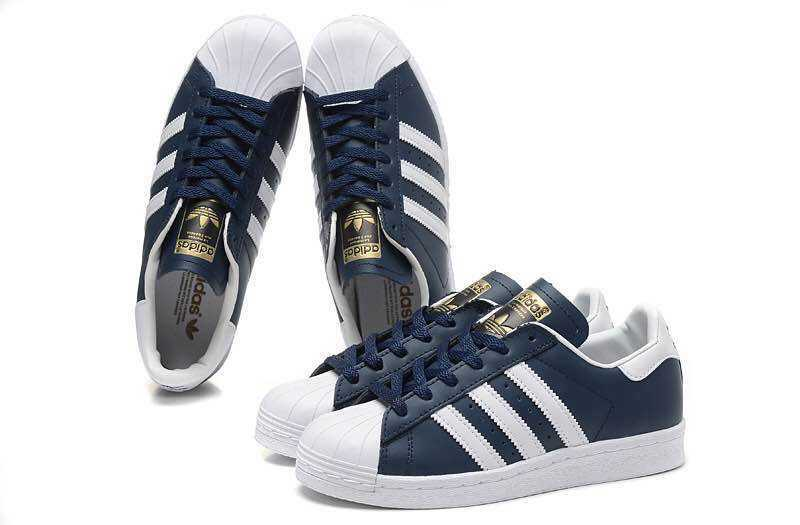 Men's/Women's Adidas Originals Superstar Foundation Shoes Collegiate Navy/Running White B27163