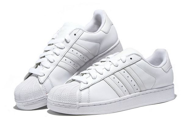 Men\'s/Women\'s Adidas Originals Superstar II Shoes Running White Ftw/Running White/Running White G17071