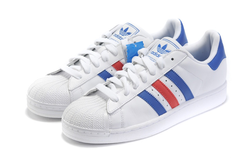 Men's/Women's Adidas Originals Superstar II Shoes Blue/Red/White G50974