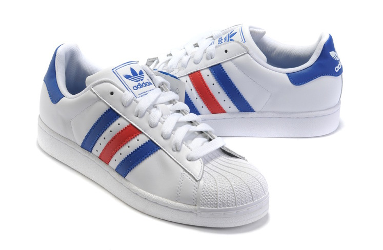 Men\'s/Women\'s Adidas Originals Superstar II Shoes Blue/Red/White G50974