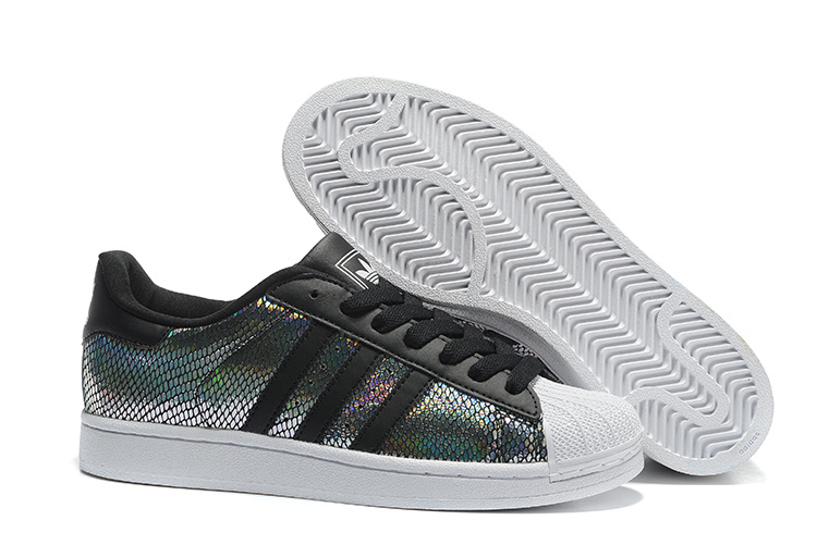 Men's/Women's Adidas Originals Superstar II Shoes Black/Multicolor M20903