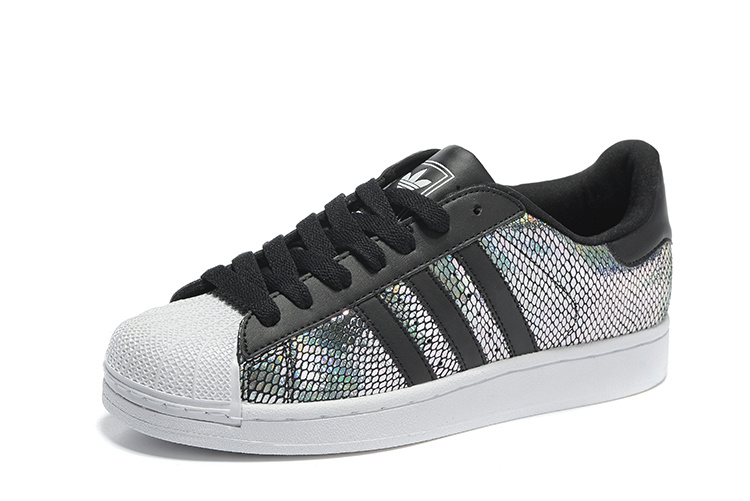 Men\'s/Women\'s Adidas Originals Superstar II Shoes Black/Multicolor M20903