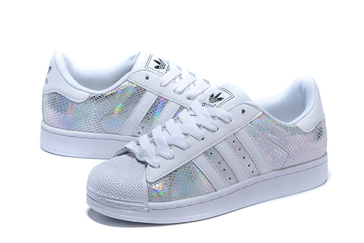 Men\'s/Women\'s Adidas Originals Superstar II Shoes White/Multicolor M20904