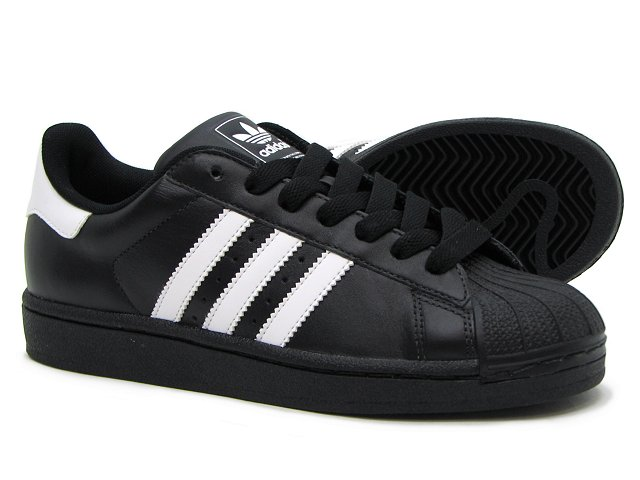 Men's Adidas Originals Superstar II Shoes Black/White G17067