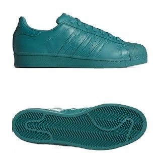 Men\'s/Women\'s Adidas Originals Superstar Supercolor Pack Shoes Collegiate Aqua/Collegiate Aqua/Collegiate Aqua S41817