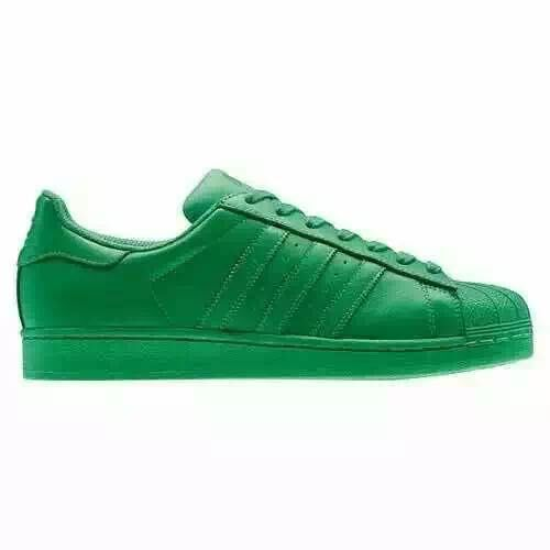 Men's/Women's Adidas Originals Superstar Supercolor Pack Shoes Green/Green/Green S83389