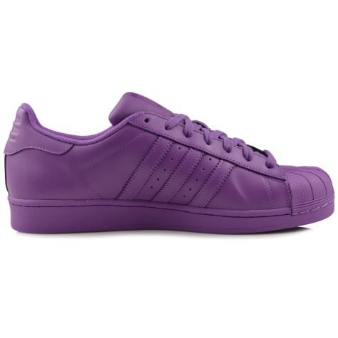Men's/Women's Adidas Originals Superstar Supercolor Pack Shoes Ray Purple F13/Ray Purple F13/Ray Purple F13 S41836