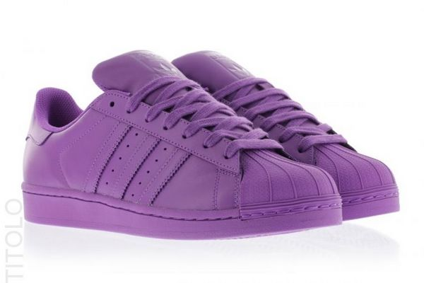 Men\'s/Women\'s Adidas Originals Superstar Supercolor Pack Shoes Ray Purple F13/Ray Purple F13/Ray Purple F13 S41836