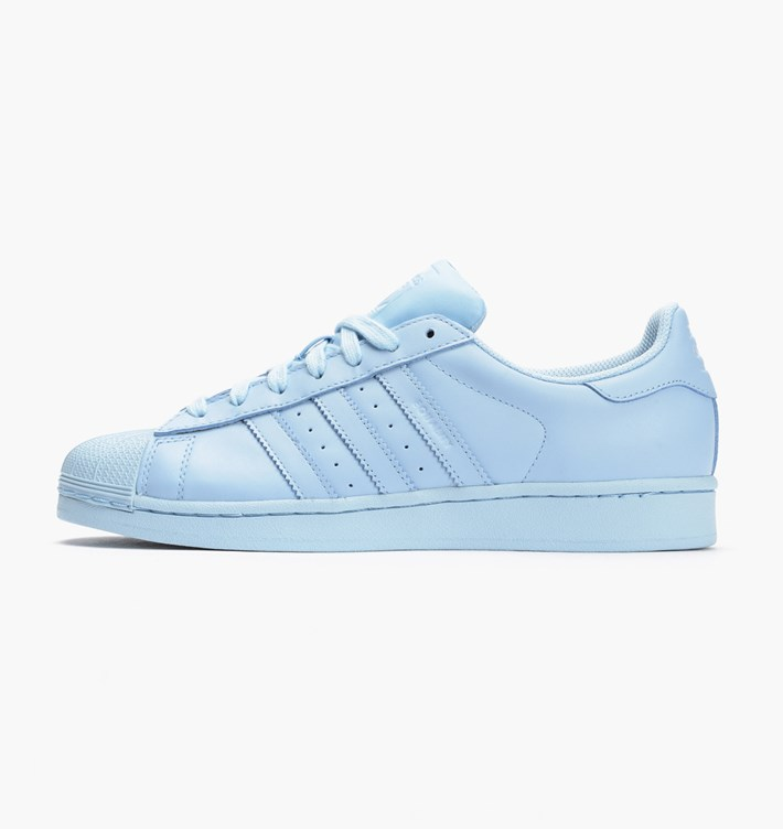 Women's Adidas Originals Superstar Supercolor Pack Shoes Clear Sky/Clear Sky/Clear Sky S41830